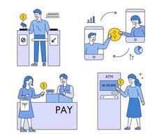 smartphone betalingssysteem concept. vector
