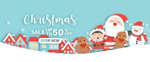 kerst verkoop banner vector