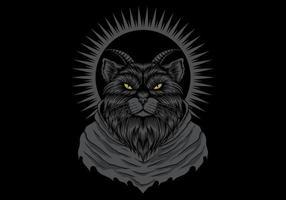 kat met hoorns vector illustratie