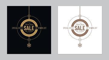 abstracte kerstbal vormige nieuwjaar verkoop luxe banners instellen vector