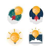 creatieve ideeën zijn uw brandstof. concept voor creativiteit, groot idee