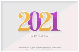 Nieuwjaar 2021 abstract ontwerp als achtergrond vector