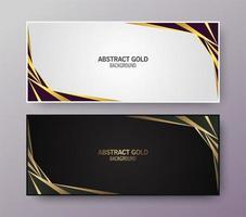 creatieve elegante abstracte ontwerpbannerset vector