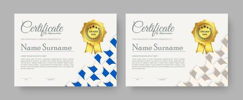 waardering certificaat beste onderscheiding diploma set