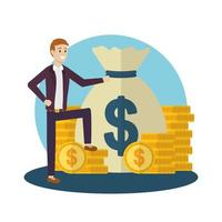 zakenman avatar cartoon ontwerp vector