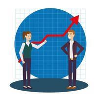 zakenman en zakenvrouw avatar ontwerp vector
