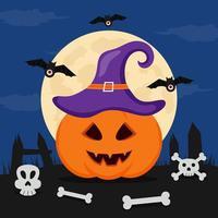 platte ontwerp halloween achtergrond vector
