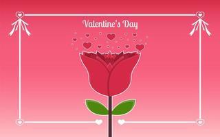 roos Valentijnsdag achtergrond met typografie concept