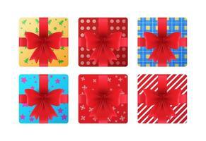 set van geschenken illustratie