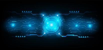 abstract futuristisch circuit. verbindingslijn vector en illustratie