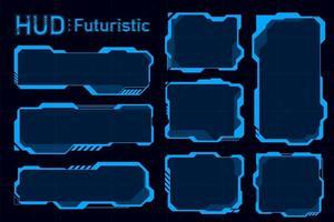 futuristische hud-samenvattingen. toekomstige thema concept achtergrond