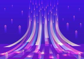 abstracte gloeiende dynamische achtergrond vector