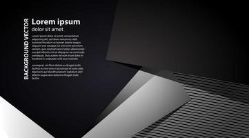 abstracte achtergrond van grijs en zwart origamidocument. vector illustratie