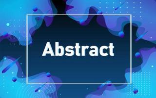 vloeibare abstracte stroom met frame achtergrond vector