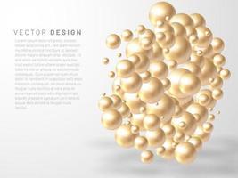vectorillustratie van overlappende abstracte ballen of bellen. realistische 3D-teken.