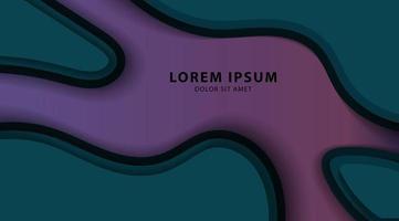 abstract ontwerp als achtergrond met papier gesneden vormen. vector golf illustratie