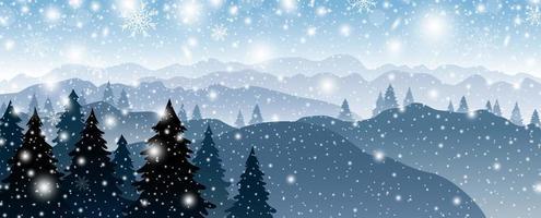 Kerstmis en winter achtergrondontwerp