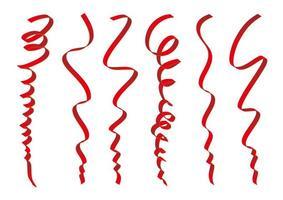 set van rood linten ontwerp