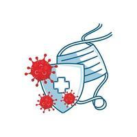 maskerschild beschermt griep anti-infectie illustratie vector