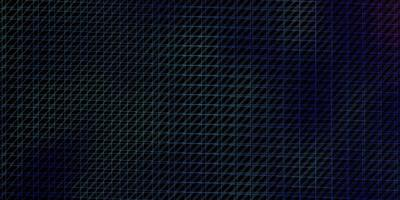 donkerroze, blauwe vector sjabloon met lijnen.