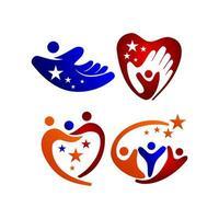 ster succes partner sjabloon illustratie symboolset vector