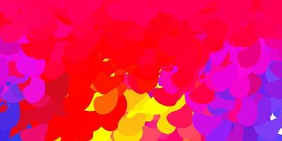 lichtrode, gele vectorachtergrond met chaotische vormen.