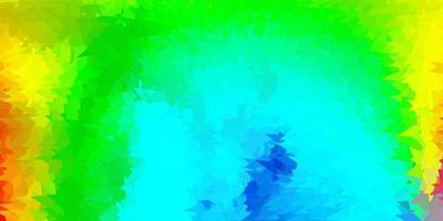 donkere veelkleurige vector abstracte driehoeksjabloon.