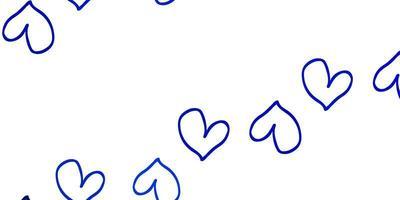 lichtblauwe vectortextuur met mooie harten.