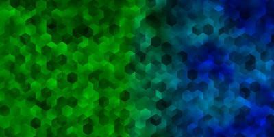 donkere veelkleurige vectorachtergrond met zeshoeken.