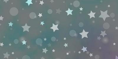 lichtblauwe vector achtergrond met cirkels, sterren