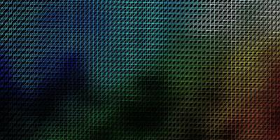 donkerblauw, groen vectorpatroon met lijnen.