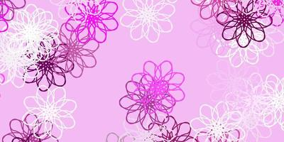 lichtroze vector natuurlijke lay-out met bloemen.