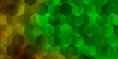 donkere veelkleurige vectorachtergrond met zeshoeken. vector