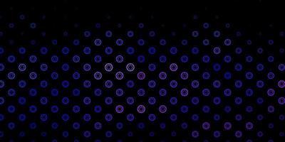 donkerpaarse vector textuur met religie symbolen.