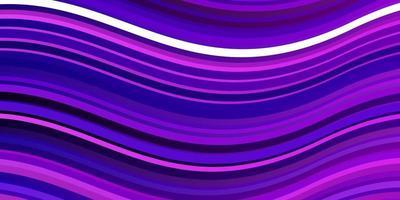 lichtpaarse, roze vector achtergrond met curven.