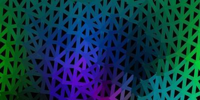licht veelkleurig vector driehoek mozaïek behang.