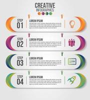 infographic moderne tijdlijn vector ontwerpsjabloon voor het bedrijfsleven