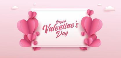 Valentijnsdag verkoop poster of banner