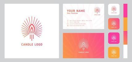 kaars logo met sjabloon voor visitekaartjes