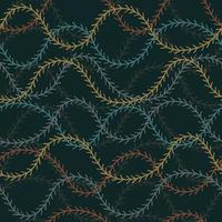 naadloze patroon achtergrond met dennenboom bladeren vector