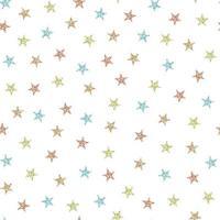 naadloze patroon achtergrond met kleurrijke glitter ster vector
