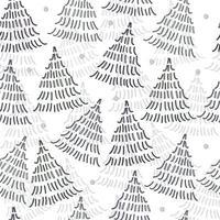 naadloze patroon achtergrond met doodle eenvoudige dennenboom vector