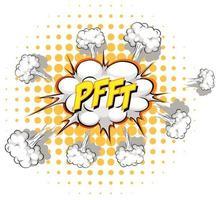 komische tekstballon met pfft-tekst vector