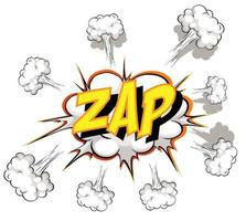 komische tekstballon met zap-tekst
