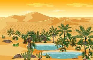 midden-oosten landschap achtergrond vector
