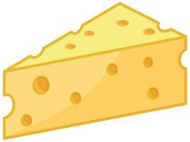 geïsoleerde cheeseon witte achtergrond vector