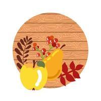 herfst fruit met houten achtergrond