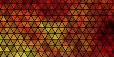 lichtoranje vector achtergrond met lijnen, driehoeken.