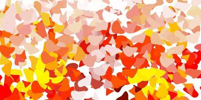 lichtoranje vectorpatroon met abstracte vormen.