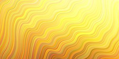 lichtblauwe, gele vectorlay-out met wrange lijnen.